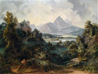 der stauffen bey salzburg by georg pezolt