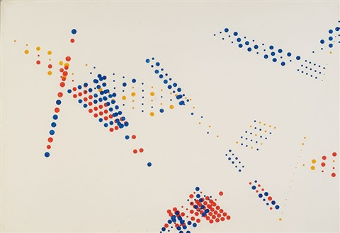 composition with dots by herman de vries