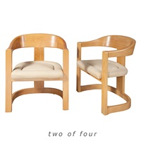 set of four onassis armchairs by karl springer