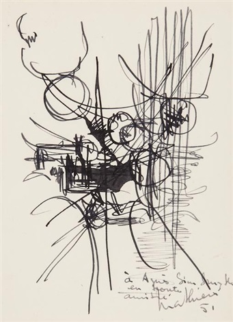 untitled (2 works) by georges mathieu