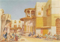 a street in cairo by johannes rabe