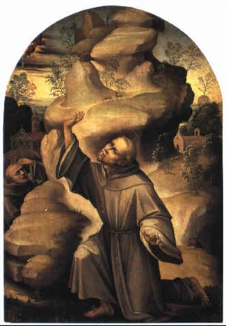 st francis receiving the stigmata by girolamo genga