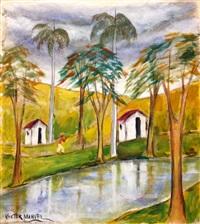 paisaje con rio by victor manuel