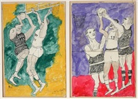 elgin baylor and wilt chamberlain (2 works) by justin mccarthy