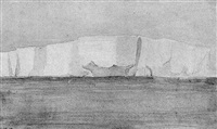 view of the antarctic by william gordon burn-murdoch