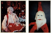 untitled (mrs. claus); toy santa claus (2 works) by mike kelley and cindy sherman
