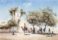 marché aux environs du caire by godefroy de hagemann