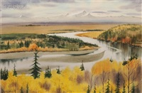 winding river, autumn by martin r. ahearn