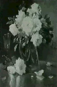 rosen in vase by f. langlois