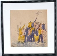 crowd on sunworthy paper by purvis young