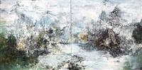 essence of tranquility (diptych) by liu jiutong