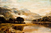 early autumn, loch scene by duncan cameron
