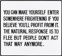 living series: you can make yourself enter somewhere… by jenny holzer