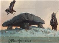 konvolut von sechs zeichnungen (6 works) by franz xaver jung-ilsenheim