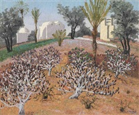 olive trees by sir cedric lockwood morris