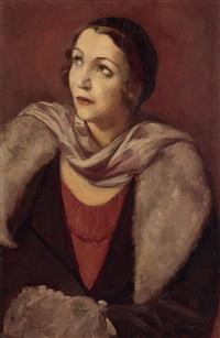 portrait de femme by émile bernard