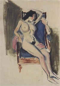 a female nude in a chair by joop moesman