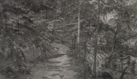 stream and woods (chester co.) by charles lewis fussell