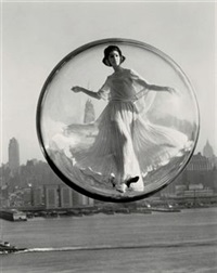 over new york (cover for harper's bazaar) by melvin sokolsky