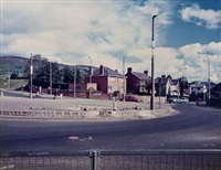 roundabout, anderson, belfast (from the troubled land, 1984-1986 series) by paul graham