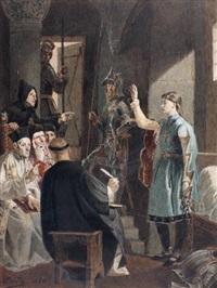 jeanne d'arc devant l'évêque cauchon by alexandre bida