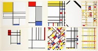 piet mondrian (porfolio) (set of 10) by piet mondrian