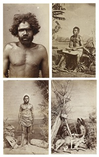four portrait photographs (4 works) by john william lindt