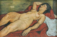 reclining nude by joe gropper