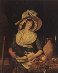 a kitchen maid by henry robert morland