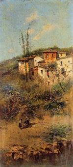 casas junto al rio by emilio álvarez ayllón (ayón)