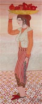 jeune femme à la corbeille de fruits by jellal ben abdallah
