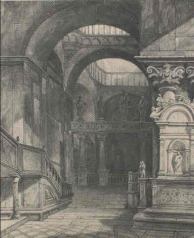 interieur dun palais venitien by eugne napolon flandin