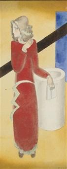 femme au livre by joseph csaky