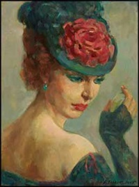 portrait of a lady with a hat by adam sherriff scott