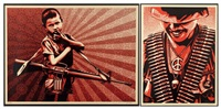 duality of humanity (set of 2) by shepard fairey