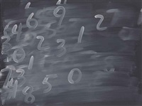 random numbers #8 by mel bochner