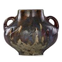 large vase with handles by émile decoeur