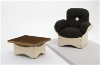 lounge chair and side table by max clendinning