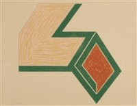 ossipee; effingham, from eccentric polygons (2 works) by frank stella