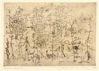 femme dans la forêt by zao wou-ki