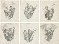 die zwölf apostel (6 works) by gottfried bernhard goetz