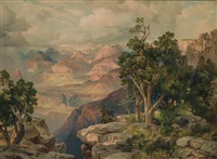 santa fe pullmans to the rim by thomas moran