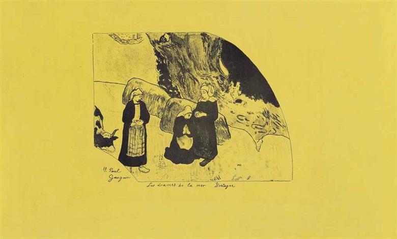 les dames de la mer bretagne from suite volpini by paul gauguin