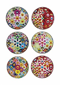 ten prints by the artist by takashi murakami