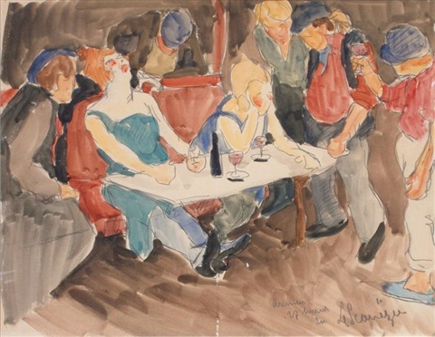 le bar du port by maurice le scouezec