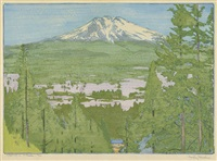 california 2 - mt. shasta by frank morley fletcher