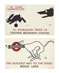 i'm going underground & the quickest way to the dogs! (2 works) by alfred leete