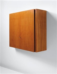 unique wall-mounted storage unit, designed for a villa, liguria by gio ponti