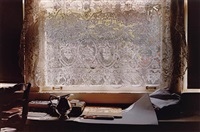 window and lace curtain by william eggleston