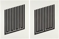 untitled (+ untitled,; 2 works) by donald judd